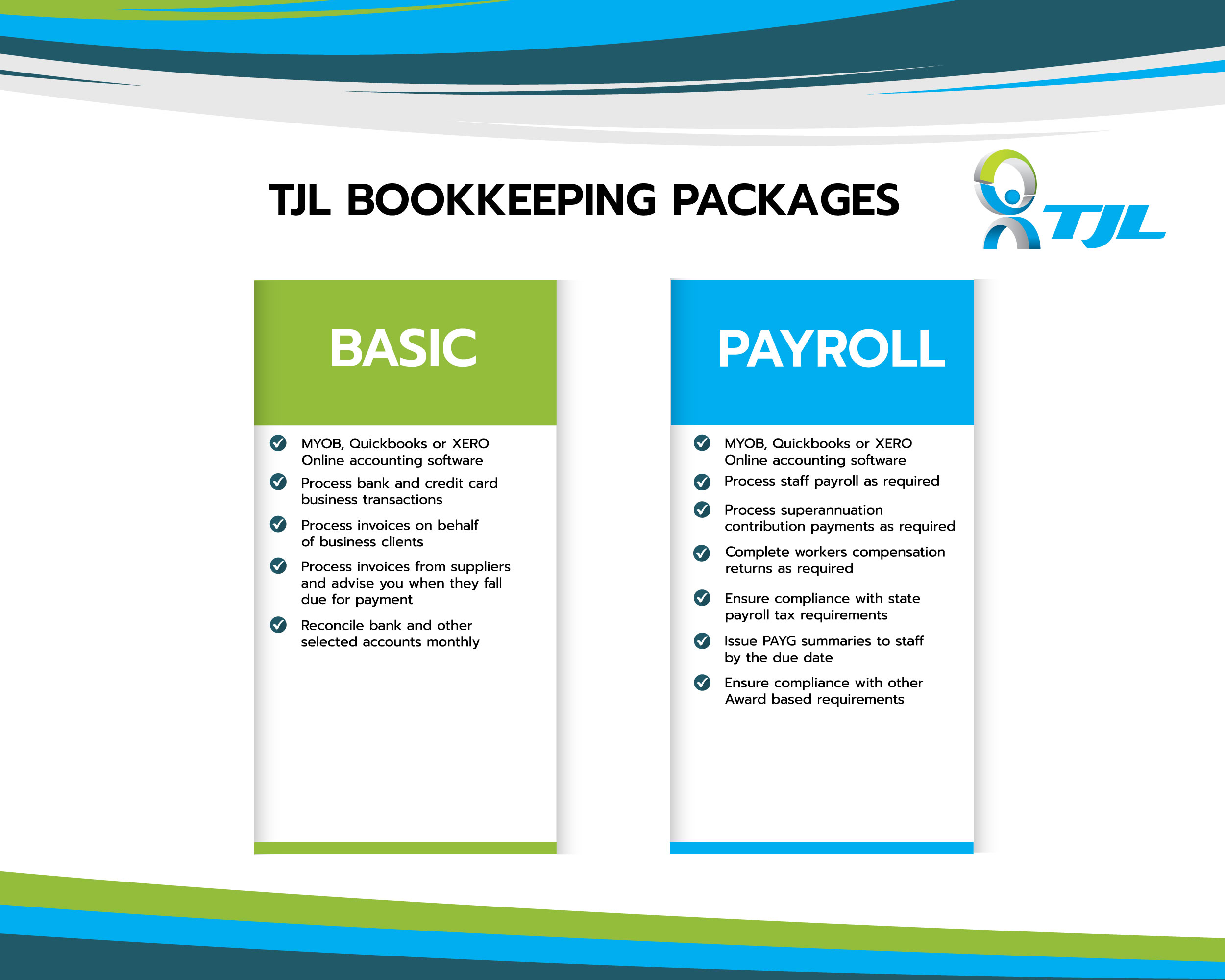 TJL - Bookkeeping Packages